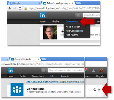 How To Back Up Your LinkedIn Contacts | You'll find this and other quick and easy life hacks and organization hacks at https://rnn10.wordpress.com