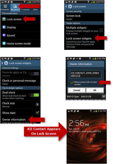 How To Set Up An ICE Contact On Your Samsung Galaxy Phone | You'll find this and other quick and easy life hacks and organization hacks at https://rnn10.wordpress.com