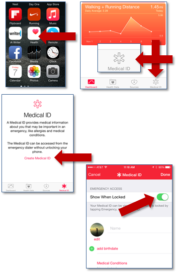 How To Set Up Your Medical ID & ICE Contact On The iPhone 6 | You'll find this and other quick and easy life hacks and organization hacks at https://rnn10.wordpress.com