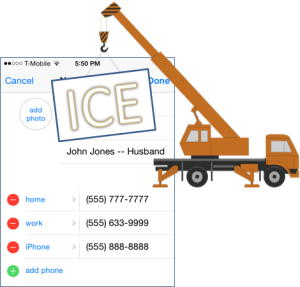 Where to put the word ICE in your ICE Contact