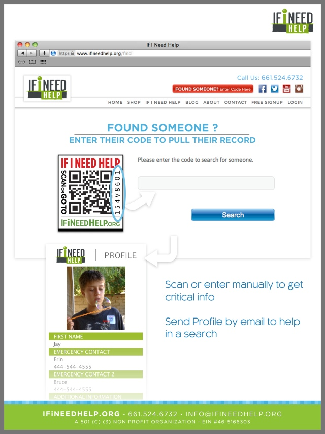 If I Need Help QR Codes Help People With Autism