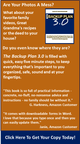 The Backup Plan 3.0 - By Laura Greenwald & Janet Greenwald - Click Here To Get Your Copy Today!