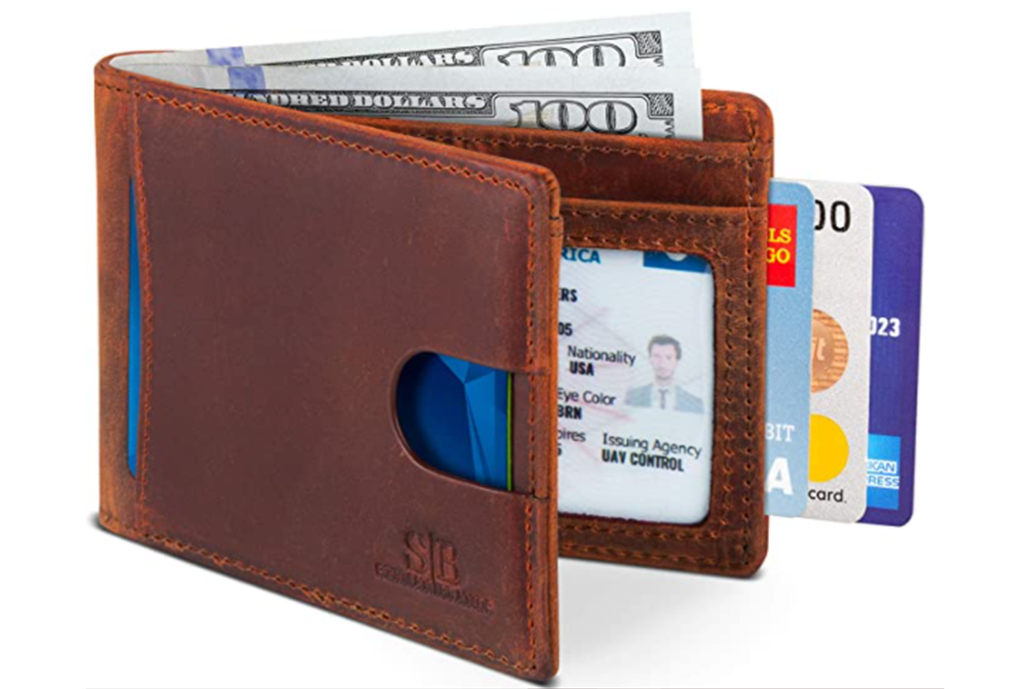 15 POST Disaster Money leather rfid wallet